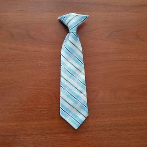 Kids Clip on Plaid Tie